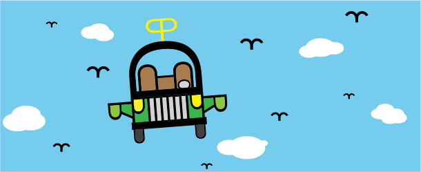 Flying Car Graphic